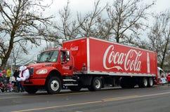 半可口可乐卡车 库存照片