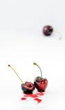 半和充分的樱桃 库存照片