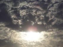 半太阳 库存图片