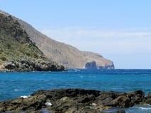 半岛Korikos的岩石 免版税库存照片