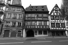 半干材房子在施特拉斯堡 免版税库存图片