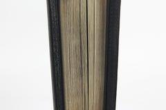 半开立场在白色背景的圣经 免版税图库摄影