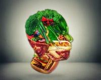 半快餐和菜塑造了面孔,饮食变动的标志从破烂物的对一种健康未加工的素食产物 皇族释放例证