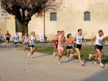 半意大利马拉松长跑vigevano 图库摄影
