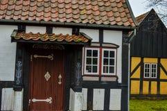 半房子用木材建造 免版税图库摄影