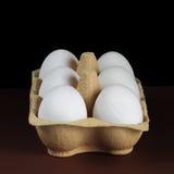 半打在盘子的鸭子蛋 免版税库存图片