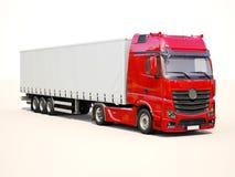 半拖车卡车 免版税图库摄影