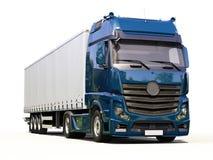 半拖车卡车 图库摄影