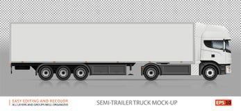 半拖车卡车veÑ 突岩大模型 库存图片