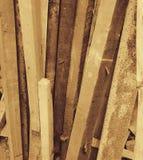 半新森林堆垂直 免版税图库摄影