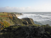 半月湾加利福尼亚海景 免版税库存图片
