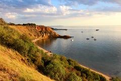 半月湾在黑岩山,墨尔本,澳大利亚 免版税库存图片