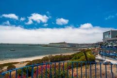 半月湾,加利福尼亚射击美国 免版税库存图片