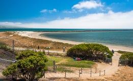半月湾,加利福尼亚射击美国 免版税图库摄影