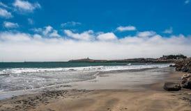 半月湾,加利福尼亚射击美国 免版税库存照片