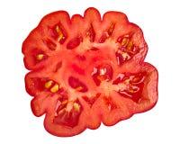 半有肋骨蕃茄的切片,顶面,道路 免版税库存照片