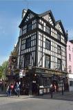 半木料半灰泥的大厦在伦敦苏豪区伦敦,英国 免版税库存图片