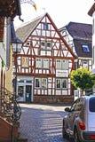 半木料半灰泥的大厦在德国 库存照片