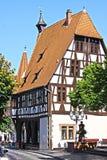 半木料半灰泥的大厦在德国 库存图片