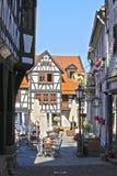 半木料半灰泥的大厦在德国 免版税图库摄影