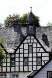 半木料半灰泥的德国房子 免版税库存图片
