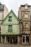 半木料半灰泥的房子,在瓦讷 免版税库存照片