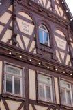 半木料半灰泥的老房子在Aalen,德国 库存图片