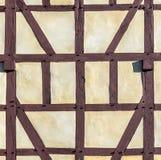 半木料半灰泥的议院细节  库存照片
