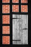 半木料半灰泥的门面 库存图片