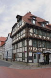 半木料半灰泥的门面II历史城市格廷根 库存图片