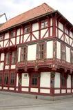 半木料半灰泥的门面III历史城市格廷根 库存照片