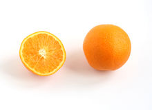 半橙色全部 库存照片