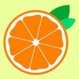 半橙色用两片叶子象果子 库存例证