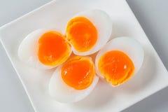 半熟鸭子鸡蛋 免版税图库摄影