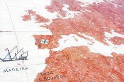 半球地图-马赛克 免版税库存图片