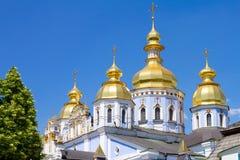 半球形的金黄基辅迈克尔修道院s st 免版税库存图片