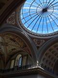 半球形的玻璃天花板 库存图片