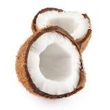 半的椰子 免版税库存照片