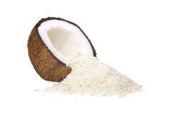 半的椰子 库存照片