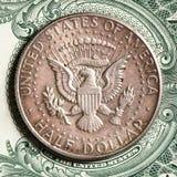 半的美元 库存照片