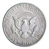半硬币的美元 库存照片