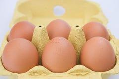 半纸盒十二的鸡蛋 图库摄影