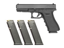 半自动手枪 免版税图库摄影