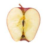 半苹果剪切红色 免版税库存照片