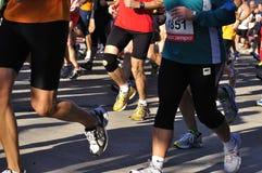 半行程马拉松运动员 免版税库存图片