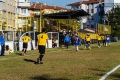 半赞成地方英格兰足球联赛比赛 库存图片
