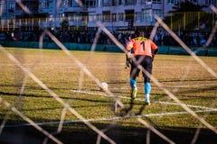 半赞成地方英格兰足球联赛比赛 免版税库存照片