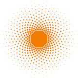 半音圈子框架传染媒介设计元素 免版税库存图片