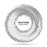 半音圈子被加点的框架 圆的边界任意半音圈子小点纹理 中间影调圆背景样式 皇族释放例证