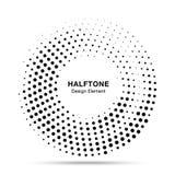 半音圈子被加点的框架 圆的边界任意半音圈子小点纹理 中间影调圆背景样式 库存例证